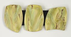 Yellow 3 Stone Wall Art: Kristi Sloniger: Ceramic Wall Art - Artful Home