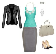 Designer Clothes, Shoes & Bags for Women Blue Grey, Gray, Work Attire, Shoe Bag, Polyvore, Stuff To Buy, Shopping, Shoes, Collection
