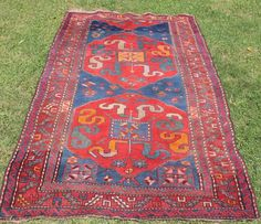 """Vintage Persian Rug Wool Handknotted Distressed approx 8 x 4"""" Area Carpet Old #Persian"""
