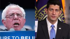 Probably not the result he was going for. Paul Ryan attacked Bernie Sanders. It backfired spectacularly.