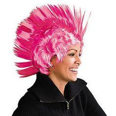 1 Pink Ribbon Mohawk Wig #14/1499