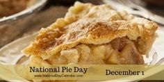 Each year on December dessert lovers across the United States enjoy a slice of their favorite on National Pie Day. It's a great day to eat leftover pie. Pie Dessert, Dessert Recipes, Best Ever Apple Pie, Swedish Apple Pie, Slow Cooker Apples, Apple Pie Recipes, Easy, Cookies Et Biscuits, Holiday Recipes