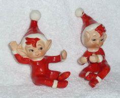 Vintage Candle Huggers Christmas Figurines, Vintage Christmas Ornaments, Christmas Decorations, Christmas Past, Little Christmas, Christmas Classics, Vintage Santa Claus, Vintage Santas, Shabby Chic Christmas
