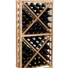 Redwood Wine Bottle Rack Wooden Cellar Storage 90+ Bottles Cube Wall Mount Racks