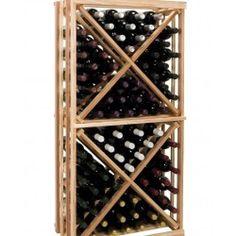 Redwood Wine Bottle Rack Wooden Cellar Storage 90+ Bottles Cube Wall Mount Racks