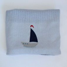 Sail Away Cellular Cotton Baby Blanket. Available online at http://www.babesandkids.co.za