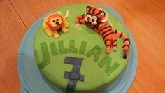 Leeuw en tijger taart
