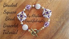 Beaded Square Bead Bracelet Tutorial