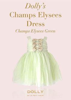 DOLLY CHAMPS ÉLYSÉES DRESS in Champs Elysees green