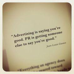 Mocht je het verschil nog niet weten tussen Marketing en  Public Relations....
