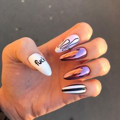 Nail art Christmas - the festive spirit on the nails. Over 70 creative ideas and tutorials - My Nails Summer Acrylic Nails, Best Acrylic Nails, Acrylic Nail Designs, Summer Nails, Aycrlic Nails, Nail Manicure, Hair And Nails, Nail Swag, Stylish Nails