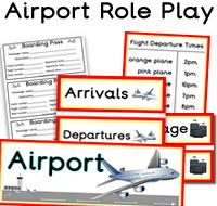 Airport role play resources for the classroom. We have 1000s more classroom printable resources available to download for primary and elementary schools.