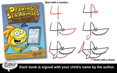 Learn how to draw sea animals using numbers 2-20. Plus, order now and author Steve Harpster will sign the book to your child. http://shop-harptoons.myshopify.com/