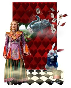 """""""Alice Through the Looking Glass"""" by selene-cinzia ❤ liked on Polyvore featuring art"""