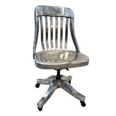 Turn of the Centruy Aluminum desk chair....fabulous!