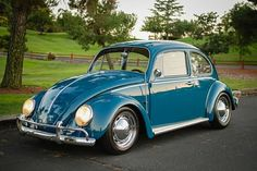 The same-ish blue VW bug my mom and dad brought me home from the hospital in :)