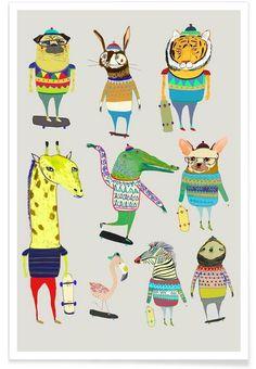 Items similar to Skateboard art print, childrens poster, kids prints, nursery art gift ideas. Skate Animal, Kids Prints, Free Prints, Nursery Prints, Nursery Art, Nursery Decor, Poster Online, Skateboard Art, Kids Poster