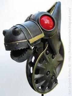 Drakkar lamp by Karl Dupéré-richer #drakkar #lamp #sculpture #steampunk