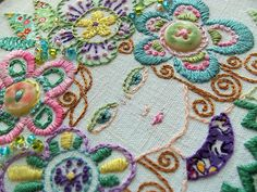 ♒ Enchanting Embroidery ♒ embroidered portrait:  Four Seasons: Spring