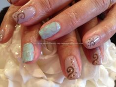 Bio sculpture Spring colours with gel nail art
