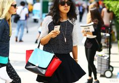 street style: new york fashion week s/s 2014 - celine bag, eddie borgo necklace