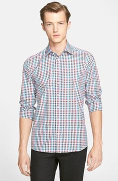 Men's Etro Trim Fit Gingham Sport Shirt