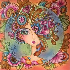 Decor Inspiration from Comic-Con Mandala Art, Mandala Drawing, Pottery Painting, Ceramic Painting, Art Pop, Art Fantaisiste, Art Visage, Inspiration Art, Whimsical Art