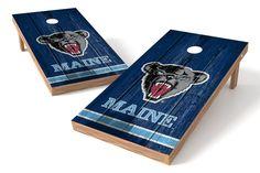 Maine Black Bears Cornhole Board Set - Vintage