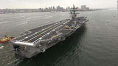 The USS Ronald Reagan, a member of the Nimitz class of aircraft carriers
