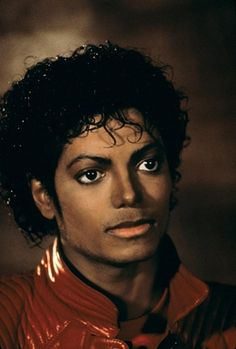 Michael Jackson in the famous Thriller jacket.
