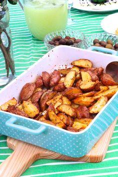 Batatas Temperadas no Forno - http://gostinhos.com/batatas-temperadas-no-forno/