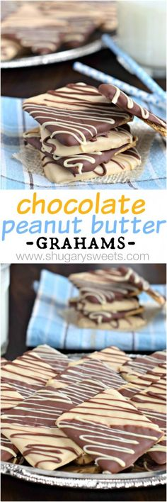 Chocolate Peanut Butter covered Graham Crackers. Such a delicious snack/treat any time of year!