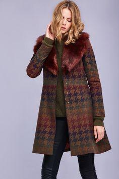 Amanine Faux Fur Coat, Brown