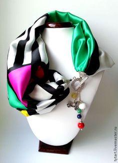 """Шарфик """"Краски лета"""" - шарф,шарф женский,шарфик,шарф шелковый,платок,платок шелковый"""