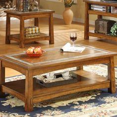 Riverside Furniture Craftsman Home Rectangular Cocktail Table in Americana Oak - 2902