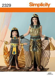 Girls Egyptian Princess Costume Sewing Pattern 2329 Simplicity