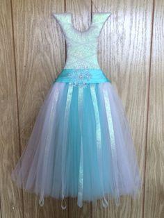 Disney Frozen Elsa Inspired Tutu Dress Bow Holder on Etsy, $30.00
