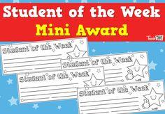 Student of the Week - Mini Award