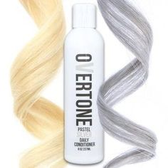 Fade no more with oVertone Pastel Silver color conditioner. Your silver hair dye will shine on when you use this - the ultimate product for gray hair colors.