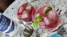 The Gentleman Celebrates His Past Summer – The Brunswick Blueberry Basil Cocktail