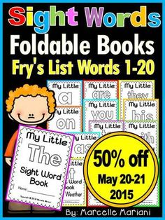 Sight Word BOOKS- Fry's 1st 20 words (21 Foldable Sight Word Readers) from KinderPrep on TeachersNotebook.com -  (65 pages)  - This package offers 21 foldable sight word book readers covering Fry's first 20 words.  One book has two versions.  Each book offers reading, tracing, coloring, and finding the sight word.