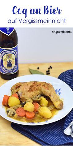 Ein leckeres Schmorgericht. Coq au Bier die Bayrische Antwort auf Coq au Vin. Das Rezept dazu findest du auch hier dazu.