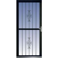 Aluminum Security Screen Door titan security recessed mount right-hand outswing aluminum meshtec