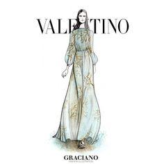 «#Valentino SPRING 2015 #PFW by #GRACIANOfashionillustration»