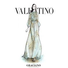 « #Valentino SPRING 2015 #PFW by #GRACIANOfashionillustration »