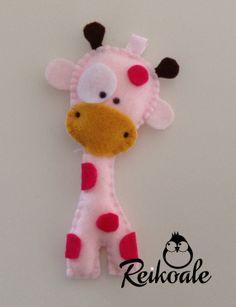 #fattoamano #handmade #creazioni #pannolenci #freikoale #nascita #compleanno | Giraffe