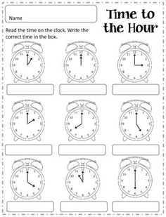 Telling Time to the Hour, Half Hour, Quarter Hour and