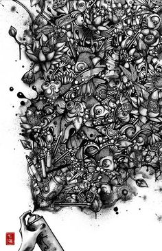 Stunning Pen and Ink Illustrations by Nanami Cowdroy
