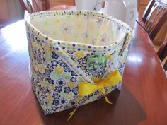 I made this fabric basket. So easy after I figured out my size and what I was doing.