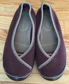 Terrasoles Women's Size 6 Rainier Ballet Flats Microfiber Fleece Purple  Soft !